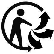 Le nouveau pictogramme pour faciliter le tri, Triman, un bonhomme tendant la main